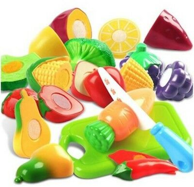 9pcs Cutting Fruits and Vegetables Set Play Food Set Pretend Kid Play Toy Gifts