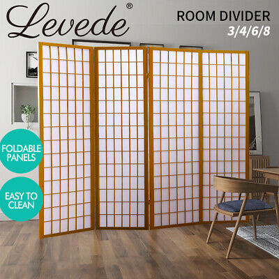 Solid Timber Wooden Frame 3/4/6/8 Panel Screen Room Divider Office Home Decor AU