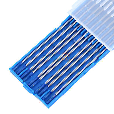 10pc WL20 Tungsten Lanthanated Tip TIG Welding Electrode Rods Blue 1.0/1.6/2.4mm
