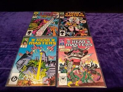 THE TRANSFORMERS comics HEAD MASTERS 1-4 GREAT CONDITION 80s