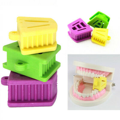 3x Dental Silicone Mouth Prop Bite Block Rubber Opener Retractor Size S+M+L