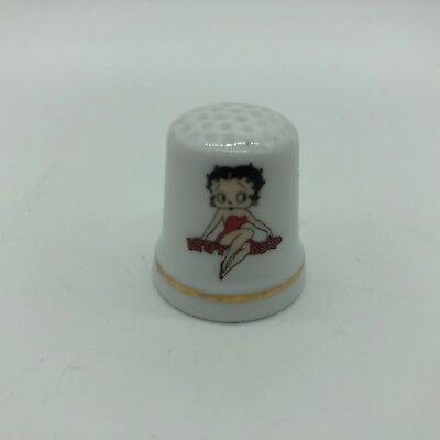 Vintage Betty Boop Thimble 1998 King Features Syndicate Fleischer Porcelain