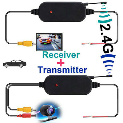 2.4G Wireless Color Video Transmitter & Receiver For Car Rear Backup View`Camera