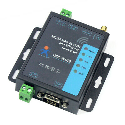 RS232/485 Serial To WiFi and Ethernet Converter USR-W610 Support TCP Server