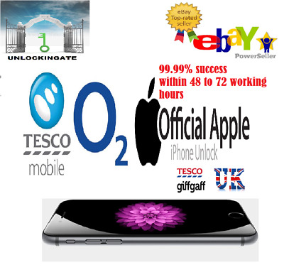 O2 Tesco Unlocking Service for iphone 5 5S 5C SE 6 6S 7 7+ 8 8+ X XR XE XS 11PRO
