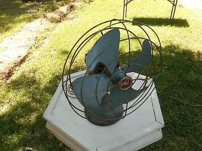"Vintage 14"" GE General Electric VORTALEX Oscillating Fan FM12V43 Works!"
