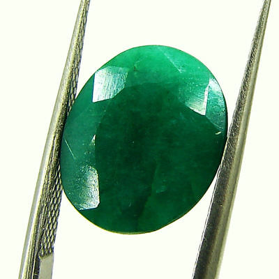 5.51 Ct Certified Natural Green Emerald Loose Oval Cut Gemstone Stone - 131264