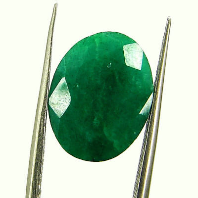 5.07 Ct Certified Natural Green Emerald Loose Oval Cut Gemstone Stone - 131254