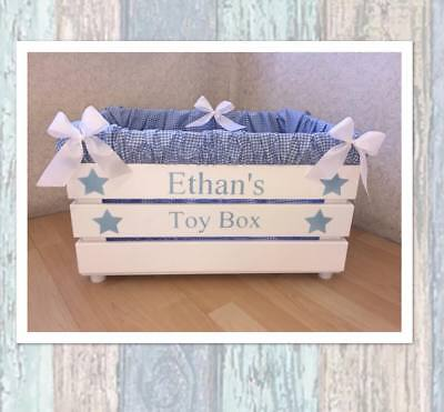 Personalised Childrens Toy Box New Baby Shower Gift