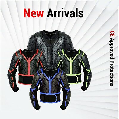 Motocross Motorbike Ce Armoured Body Armour Protection Black Suit Kids Adul