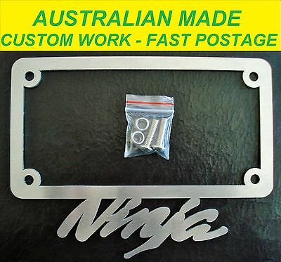 Ninja Kawasaki Licence / Number Plate Frame Surround Cover All Models. Ozzy Made
