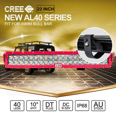 23 inch CREE LED Light Bar 40LEDs For 49mm ARB Front Bull Bar Mount RED