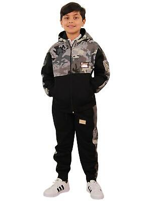Kids Boys Girls Tracksuit Designer A2Z Badged Camouflage Top Bottom Jogging Suit