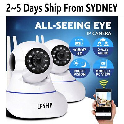 LESHP 1080P Wireless IP Camera CCTV Security System Baby Monitor Night Vision AU