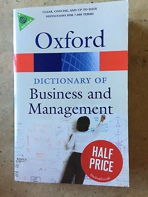 A Dictionary of Business and Management by Jonathan Law (Paperback, 2009)