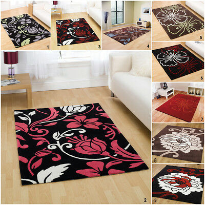 New Modern Flowery Infinite Acrylic Rugs By Flair Warehouse Clearance Sale
