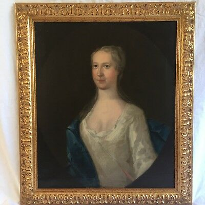 Manner Of Godfrey Kneller 18/19th C Portrait Of A Lady. Antique Oil Painting