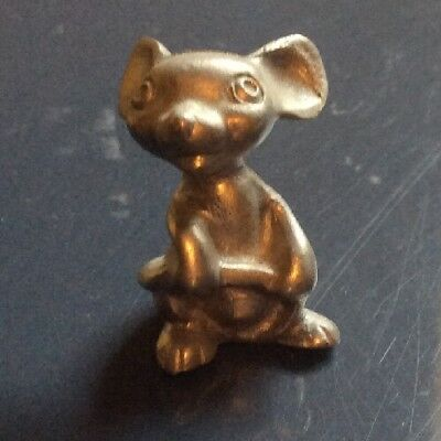 Pewter Mouse Figurine Mice Collectible Vintage