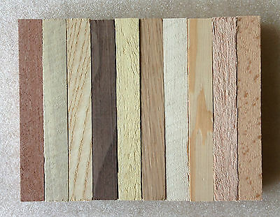 10 x Pen Turning Blanks Mixed Species Woodturning 130x17x17mm