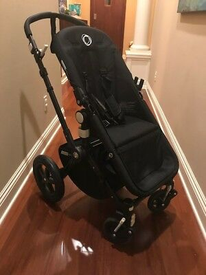 Bugaboo Cameleon 3 Stroller Black And Chicco Car Seat Adapter