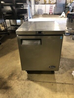 """Atosa Mgf8401 27"""" Used Commercial Undercounter Refrigerator Worktop Cooler"""