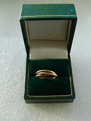 Ring echt Gold 333  Tricolor