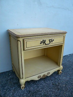 French Nightstand End Side Table by Baker 2787