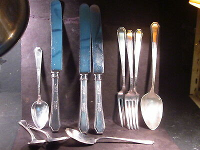 Silverplate Wm Rogers & Sons MAYFAIR  11pc  Service for 3 w/ Tablespoon & Sugar