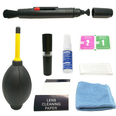 8 in 1 Camera Lens Cleaning Kit For Canon Nikon Sony DSLR Lens Filters Computer