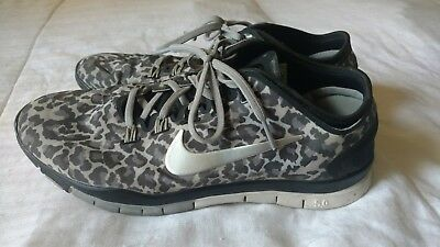 premium selection e475d 79441 ... usa nike free tr connect 2 womens 10 training running shoes black gray  leopard 4630d c1797
