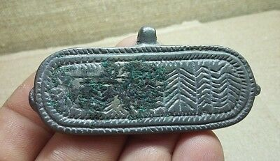 RARE ! Perfect Ancient TIn-Bronze Pendant Amulet Suspension Viking 9-11AD #306