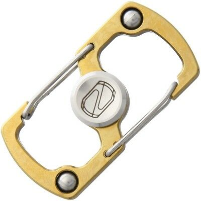 Stedemon Z05BRN Key Chain Fidget Spinner Gold Stainless Steel With Two Carabiner