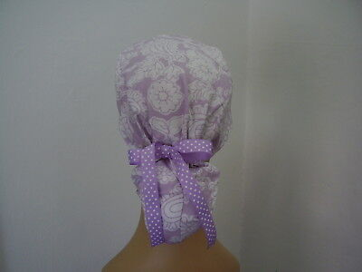 Surgical Scrub Hat Ponytail Style Cap
