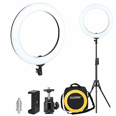 """ZOMEI 14"""" LED Photography Ring Light Lamps Dimmable 5500K Lighting Photo Camera"""