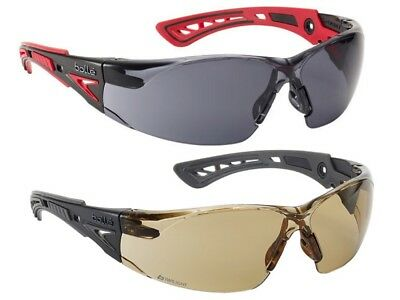 Safety Glasses by BOLLE - RUSH+ PLATINUM (Smoked/Twilight Lens) Anti Scratch/Fog