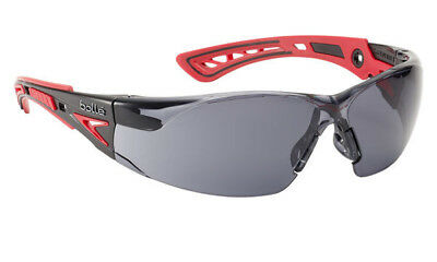 Safety Glasses by BOLLE -RUSH+ PLATINUM Smoke Tinted Lens ANTI FOG +ANTI SCRATCH