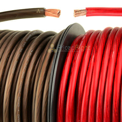 Cable 25/' Red 25 ft Black 50/' Super Flexible 8 Gauge Power /& Ground Wire