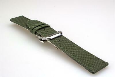 Wing Commander Canvas Sport gewebearmband Compatible for IWC Pilot's Watch