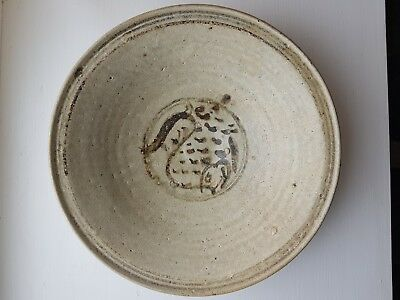 Turianq shipwreck pottery porcelain Fish plate 24.5 cm (c. 1370) VERY RARE