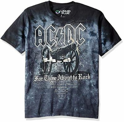 AC/DC Cannon Tie Dye T-Shirt All Sizes New
