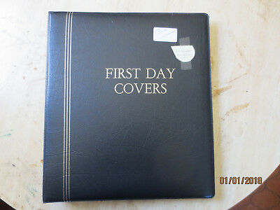 No-55 - FDC  ALBUM   20  PAGES  DOUBLE  SIDED -3  RING  BINDER--GOOD ORDER