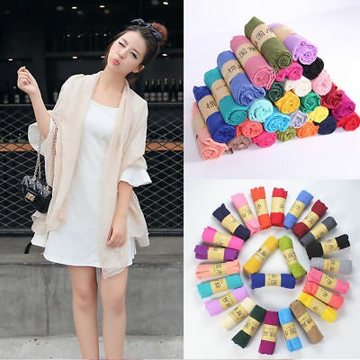fashion stole  Long women's candy colors soft cotton Scarf Wrap Shawl scarves