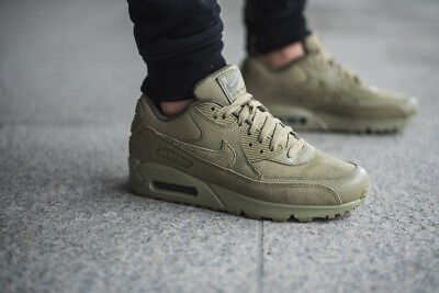 3518dd313f7 NIKE AIR MAX 90 Premium Neutral Olive Mens Shoes 700155-202 Size 9 ...