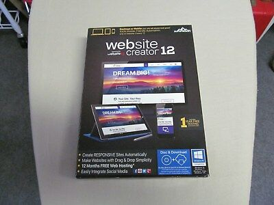 Website Creator 12 - Windows Factory Sealed Box! Free Priority shipping