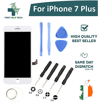 For iPhone 7 Plus LCD Touch Screen Digitizer Display Assembly White With Tools