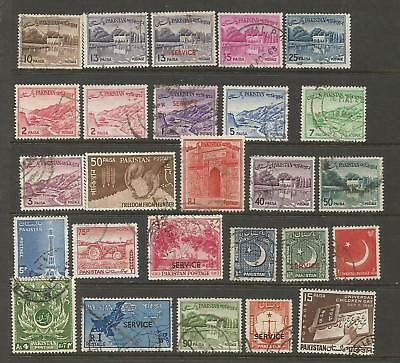 Pakistan Paquistan Stamps Lot Good To Fine Used Condition