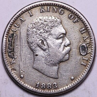 1883 Hawaii Quarter As Pictured               K2ANA