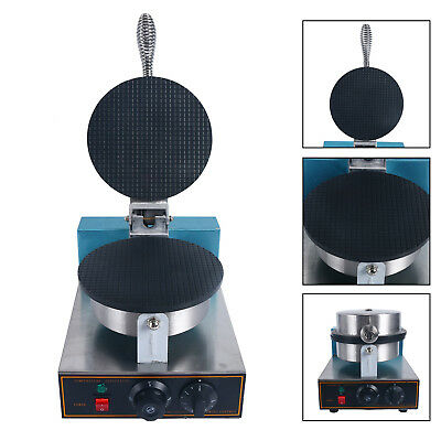 Egg Roll Waffle Baker Machine- Nonstick Regular Ice Cream Cone Maker Fast Ship
