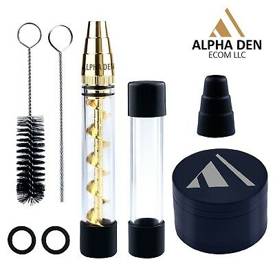 NEW Glass Blunt Pipe with Free 40mm Grinder