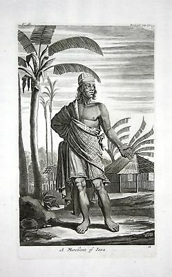 1730 Java Indonesia costume dress Kupferstich engraving Churchill 108641